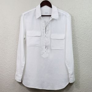 Equipment Knox 100% Linen Shirt size large